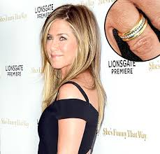 aniston wedding ring aniston s wedding ring designer dishes on the s bling