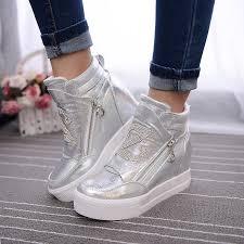 womens boots zip up aliexpress com buy boots wedge concealed heel high top