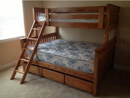 Free Loft Bed Plans Twin Size by Bunk Beds Twin Over Queen Bunk Bed Plans Queen Over Queen Bunk