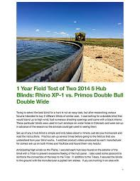 Double Bull Blind Replacement Parts 5 Hub Blind Review Rhino Xp 1 And Primos Double Bull Double Wide