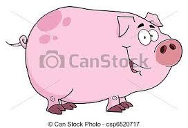 vectors illustration pig cartoon character pink pig cartoon