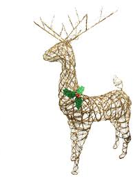 standing grapevine reindeer lighted decoration clear