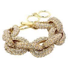 gemstone link bracelet images Pave stone link bracelet gold target