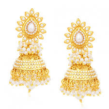 gold earrings online purchase online pissara gold plated earring for women