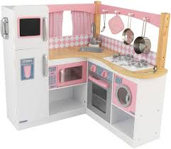 cuisine enfant en bois grande cuisine d angle pour enfant en bois 91x91x92cm ebay