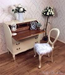 Shabby Chic Writing Desk by Vintage Shabby Chic Writing Desk Bureau Decoupage Drawers Art Deco