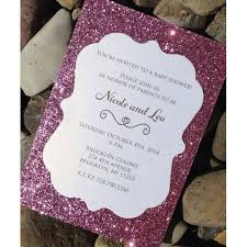 pink and silver baby shower shower invitation 25 glitter baby shower invitations baby