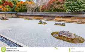 Japan Rock Garden by A Zen Rock Garden In Ryoanji Temple In Kyoto Royalty Free Stock