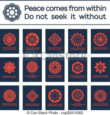 clip vector of asian religious posters with buddha quotes