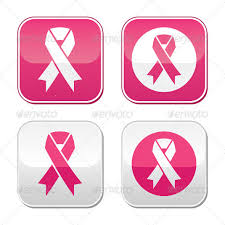 emoji ribbon ribbon symbols for breast cancer awareness buttons by redkoala