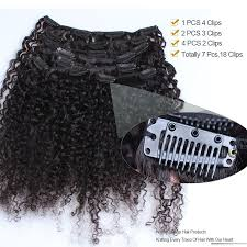 Curly Fusion Hair Extensions by Curly 3b 3c Brazilian Virgin Hair Clip In Huamn Hair