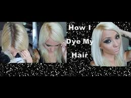 best boxed blonde hair color how i dye my hair platinum blonde youtube