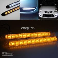 led lights for cars store 2x 12 led flexible light strip with turning yellow amber light auto