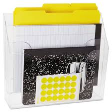 Desk Folder Organizer Three Pocket File Folder Organizer Plastic 13 X 3 1 2 X 11 1 2