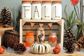 Home Handmade Decoration Shabby Chic Handmade Fall Mason Jar Decor Ideas For The Home