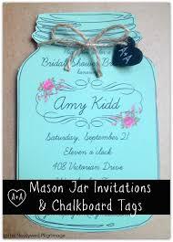 jar invitations jar invitations and chalkboard tags for weddings or showers