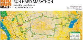 Columbia Sc Map Run Hard Columbia Marathon