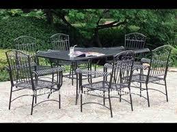 wrought iron patio furniture sets youtube