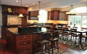 dark cabinet and dark floors kitchen cozy home design