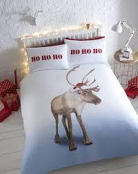 kids christmas bedding duvet cover bright colourful festive xmas
