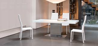 contemporary dining table glass oak lacquered wood