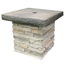 stone patio side table patio umbrella stand wicker and steel side table base holder for