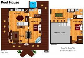 pool house floor plans floor plan pool house house plans