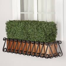 Faux Outdoor Bushes Outdoor Artificial Hedges In Window Boxes Boxwood U0026 Ivy Hooks