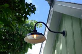 Gooseneck Outdoor Light Fixtures Gooseneck Outdoor Light Fixture With Outlet Room Decors And