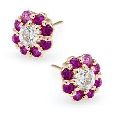 post back earring bloom diamond flowers irini jewelry