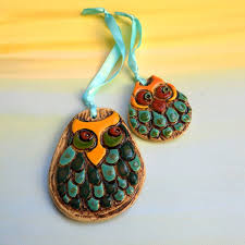owl ornaments ceramic ornaments owls