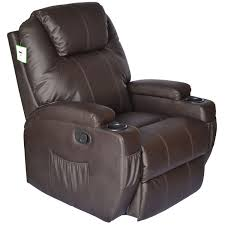Brown Leather Recliner Chair Homcom Deluxe Heated Vibrating Massage Recliner Chair Review