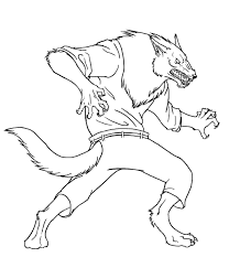 monster werewolf coloring pages 25547 bestofcoloring com