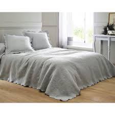 jeté de canapé gris perle plaid ou jeté de canapé jeté à fleurs en relief becquet gris