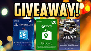 steam 20 gift card 500 sub giveaway 20 psn xbox steam gift card giveaway on