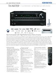 download free pdf for onkyo tx nr709 receiver manual