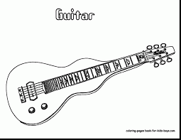 magnificent boy playing guitar coloring pages with guitar coloring