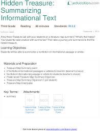 summarizing nonfiction education com