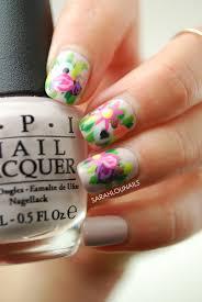 British Flag Nails Sarah Lou Nails Flower Crown Nails