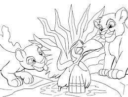 lion king kovu and kiara coloring pages 2 page pdf lion king