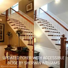 Foyer Paint Color Ideas by Updated Foyer With Accessible Beige By Sherwin Williams Interior