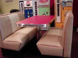 sweet modern corner kitchen booths with wooden furniture and pink