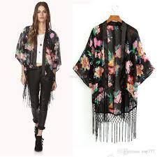 cardigan kimono best chiffon tops tassel shawl kimono cardigan blusa feminina 2016