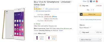 amazon black friday unlocked phone deals deal alert blu vivo air on sale for 149 99 50 off through