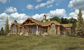 log home plans cabin southland homes ranch style carson hahnow
