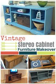 stereo cabinet furniture makeover