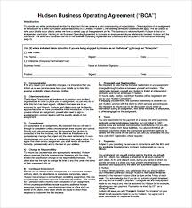 sample business operating agreement 7 free documents download
