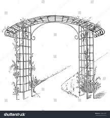 Design A Pergola by Design Pergola Stock Vector 103874183 Shutterstock