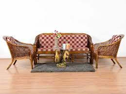 Buy Second Hand Furniture Bangalore Ferno Bamboo 5 Seater Sofa Set Buy And Sell Used Furniture And