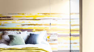 Yellow Feature Wall Bedroom Create A Striking Striped Feature Wall Dulux